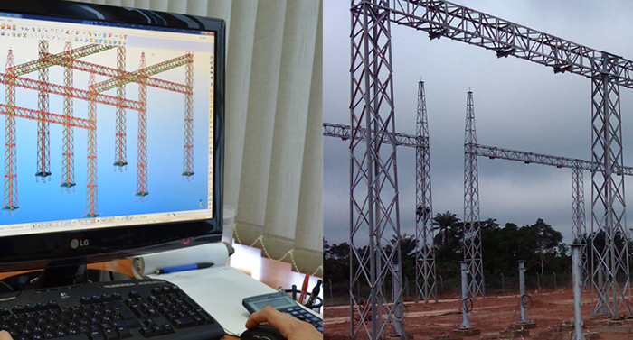 Electrical & civil work engineering for AiS and GiS